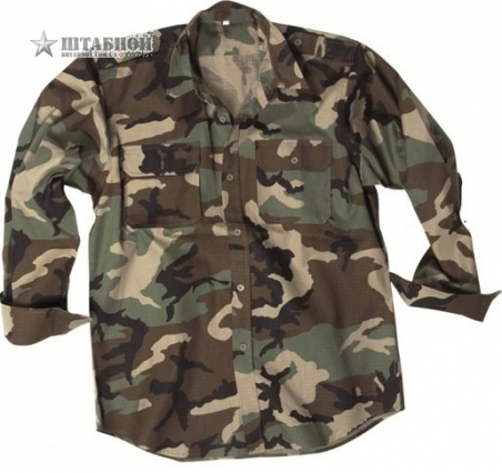 Рубашка с длинными рукавами Rip-Stop - Mil-tec (Лиственная)