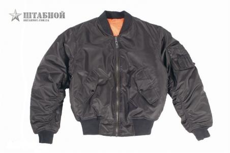 Куртка лётная MA1 США - Mil-tec (Черная)