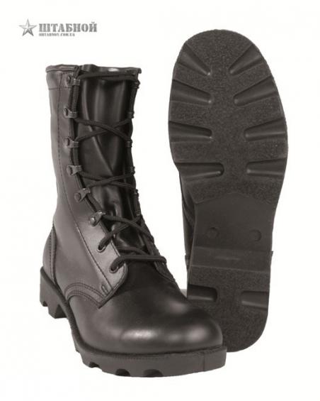 Ботинки военные  Speed Lace Combat Boots, кожа - Mil-tec (Черные)