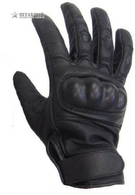 Кожаные тактические перчатки - Mil-tec (Черные)