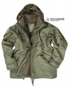 Куртка непромокаемая с флисовой подстёжкой - Mil-tec (Оливковая)