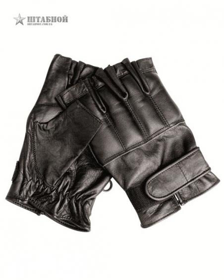 Кожаные безпалые перчатки Defender - Mil-tec (Черные)