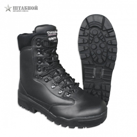 Берцы тактические кожаные Stiefel Leder, Dintex - Mil-tec (Черные)
