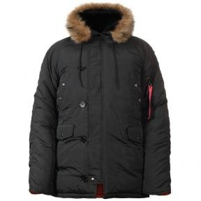 Куртка зимняя Аляска N-3B - Chameleon (Черная)