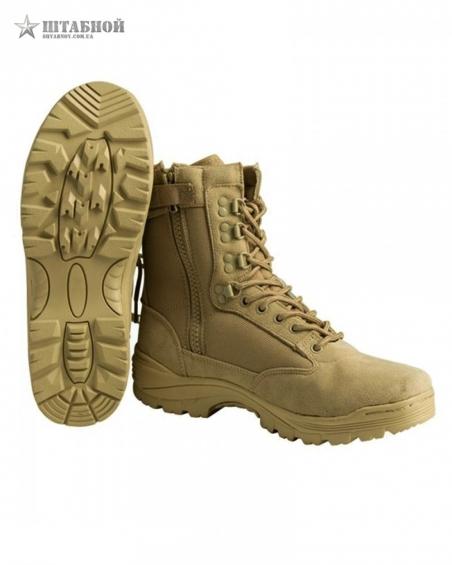Ботинки тактические на молнии - Mil-tec (Хаки)