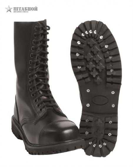 Ботинки Invader (Англия, кожа, 14 eye) - Mil-tec (Черные)