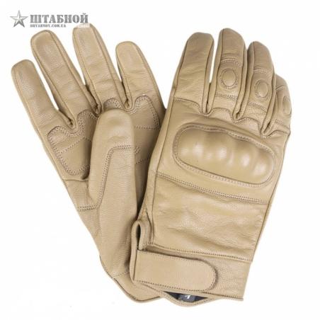 Кожаные тактические перчатки - Mil-tec (Койот)