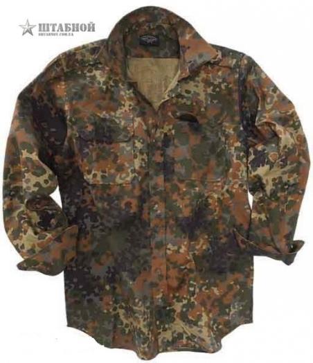 Рубашка с длинными рукавами Rip-Stop - Mil-tec (Камуфляжная)
