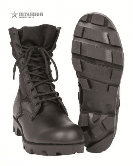 Берцы US Jungle Panama, Tropical Boots - Mil-tec (Черные)