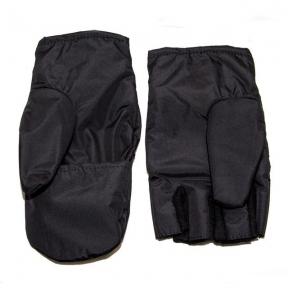 Перчатки-варежки с откидными пальцами (Черные)