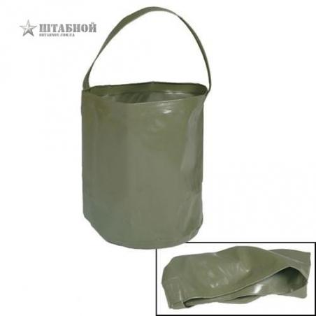 Ведро складное 10 литров - Mil-tec (Оливковое)