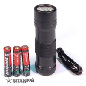 Фонарик ручной 12 LED (3ААА) - Mil-tec (Черный)