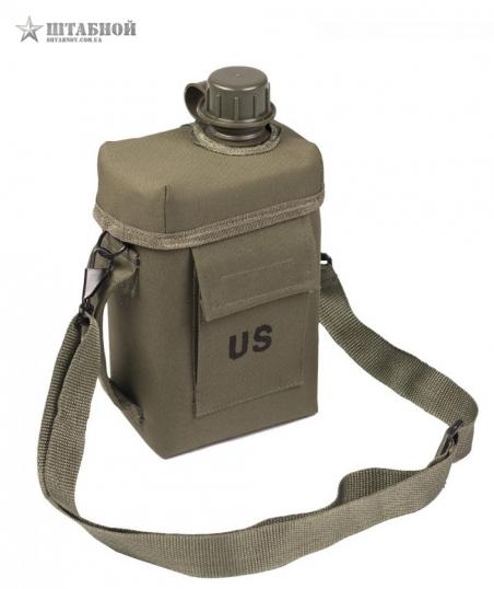 Фляга Patrol Mil-tec 2л с чехлом и ремнем (Оливковая)