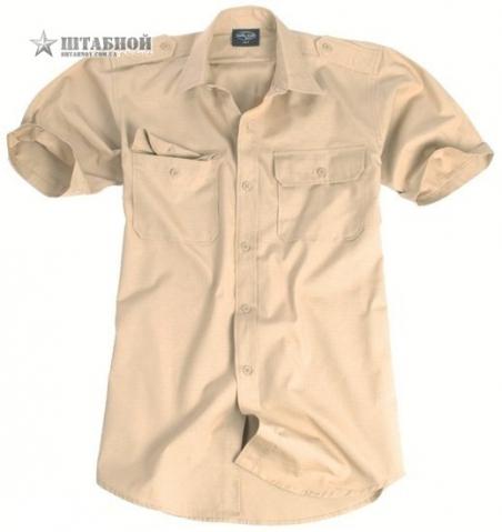 Рубашка с коротким рукавом Rip-Stop - Mil-tec (Хаки)