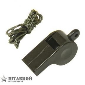 Свисток на шейном шнурке (Olive), Mil-Tec