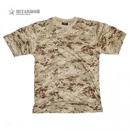 Камуфлированная футболка Mil-tec (Песочная)