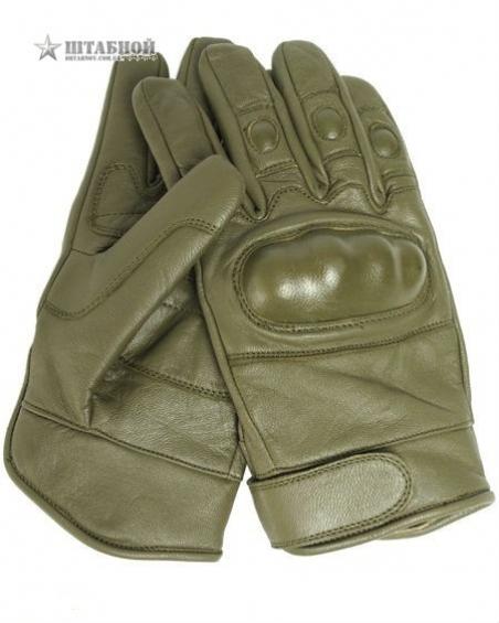 Кожаные тактические перчатки - Mil-tec (Оливковые)