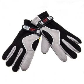 Перчатки двойной флис (Черные/белые)