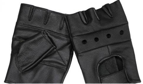 Перчатки байкерские обрезанные - Max Fuchs (Черные)
