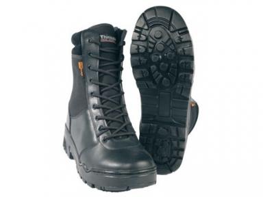 Берцы тактические кожаные на молнии (Stiefel Leder, Dintex) - Mil-tec (Черные)