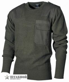 Пуловер BW акриловый - Max Fuchs (Оливковый)