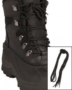 Шнурки черные, 180 см - Mil-tec