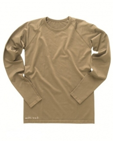 Облегающая терморубашка с длинным рукавом под одежду - Mil-tec (Койот)