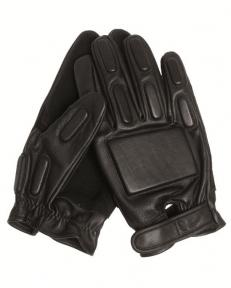 Перчатки тактические кожаные с демпферными вставками - Mil-tec (Черные)