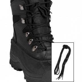 Шнурки 140 см - Mil-tec (Черные)