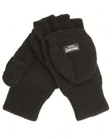 Вязаные перчатки-варежки с утеплителем Thinsulatе - Mil-tec (Черные)