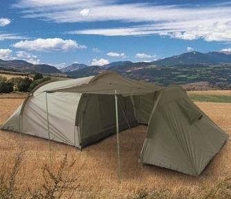 Палатка 3-х местная с кладовкой - Mil-tec (Оливковая)