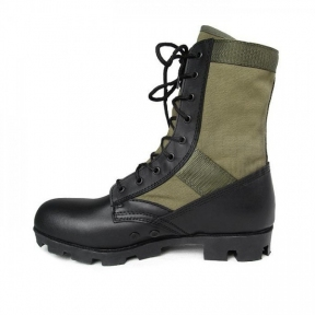 Берцы US Jungle Combat, Tropical Boots - Mil-tec (Оливково-черные)
