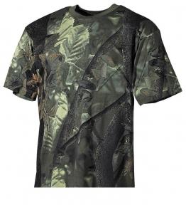 Камуфлированная футболка - Max Fuchs (Зеленая)