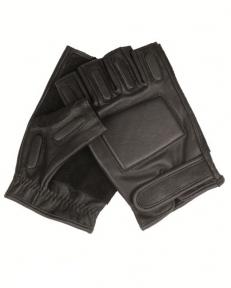 Перчатки кожаные тактические беспалые - Mil-tec (Черные)