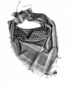 Арафатка Шемаг Mil-tec (Белая/Черная)